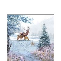 Deer Family napkin - 25 x 25 cm