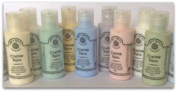 Various colour of crackle paint