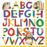 Colourful Alphabet Napkin