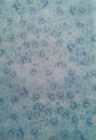 Vellum. Blue roses  (image photographed onto white paper)