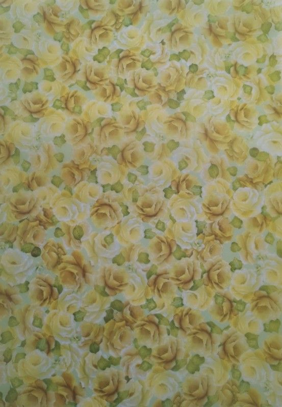 Delicate lemon roses with soft green leaves vellum. A4, Pack of 5 (photogra