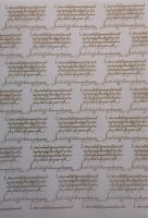 Vellum.  Beautiful Gold embossed script vellum. A4