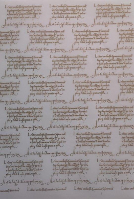 Vellum.  Beautiful Gold embossed script vellum. A4