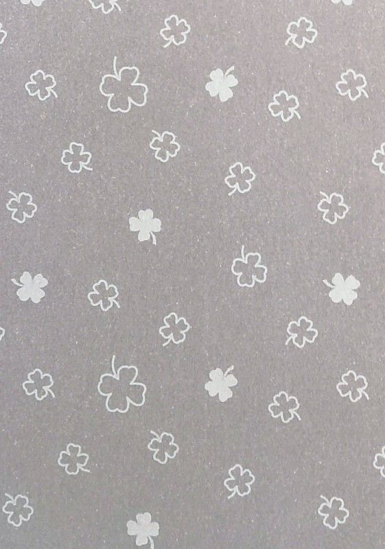 Vellum. Transparent white clover leaf. A4.New Product