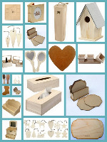 MDF, WOODEN ITEMS & OTHER ITEMS TO DECORATE