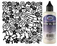 Stencils & Stencil Glue