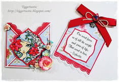 Envelope Card Template - Girl