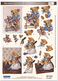Teddy bears playing and writing - DC82933
