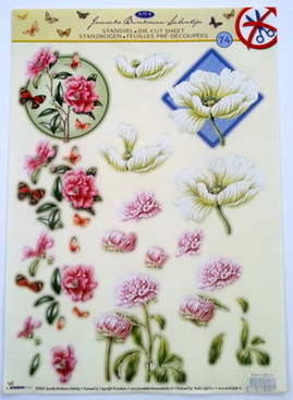 DCJBS74 - Janneke Brinkman DIE CUT pink and white flowers