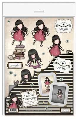 DC506343 - My Secret Place Gorjuss die cut decoupage