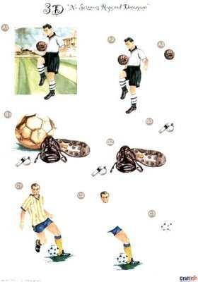 DCFO-001 - Football die cut decoupage