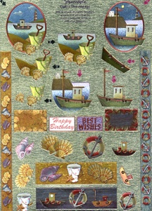 248576 - Dufex die cut decoupage - Freestyle Boats, shells etc