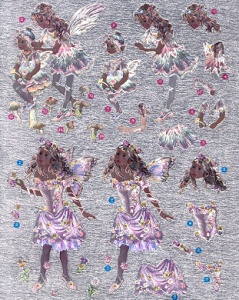 DCDUFEX001 - Foiled decoupage sheet of Fairies by Christine Haworth