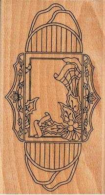 HH1186L - Holly & ribbon treasure box stamps