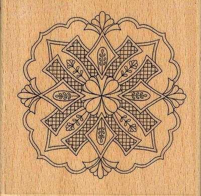 HH1153F - Terrace Garden Medallion Rubber Stamp. Click on the 'Download' to