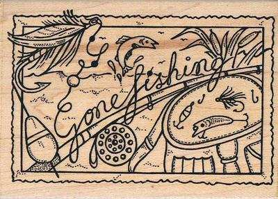 F-P67 - Fun Stamps - Gone Fishing