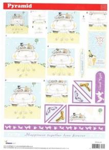 PYR SL31 Studio light Wedding pyramid decoupage sheet