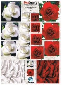 G18 DT8037 - Twisted Pyramid - Anniversary Roses
