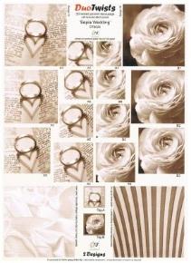 G18 DT8024 - Twisted pyramid - Sepia Wedding