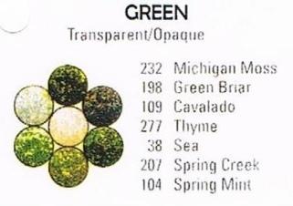 Monochromatic Green - Pee Wee Glitters - 7 x 2 gram vials