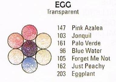 Egg Medallions - Pee Wee Glitters - 7 x 2 gram vials