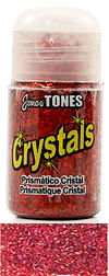 Jones Tones - Red Prismatic Crystals - Super fine polyester glitter.