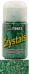 Jones Tones - Green Prismatic Crystals - Super fine polyester glitter.