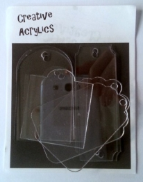 Creative Acrylics - Acrylic tags of different shapes x 6