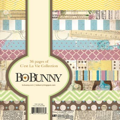 Bo Bunny 36 single sided decorative papers 6