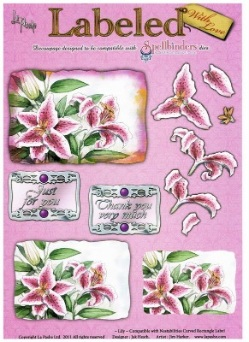 La Pashe Labeled decoupage sheet - Lily