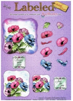 La Pashe Labeled decoupage sheet - Anemone