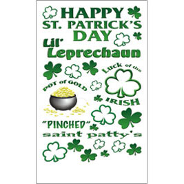 Happy St Patrick's Day - Royal Langnickle Rub On's