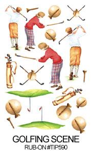 TIP-590 - Golfing Scene - Rub-on's