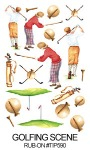 TIP-590 - Golfing Scene - Rub-on's