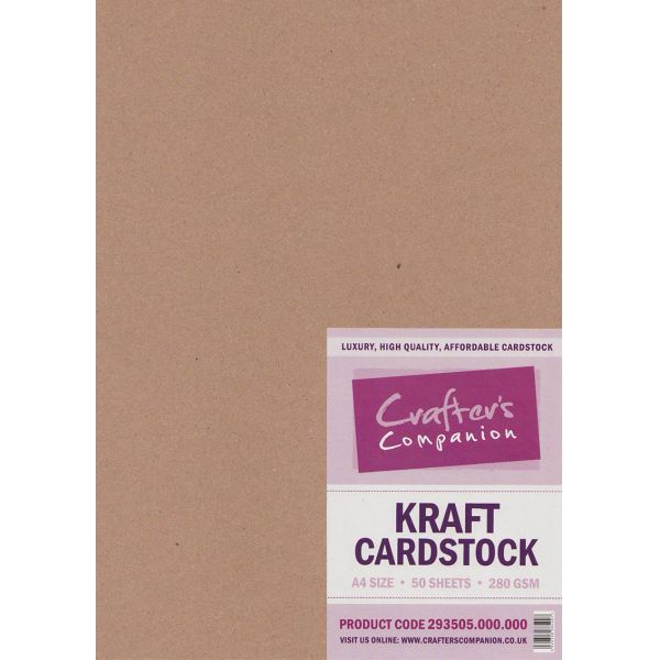 Kraft Cardstock A4 - Pack of 50 by Crafter's Companion