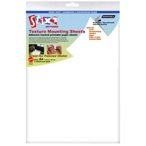 A4 Self Adhesive Canvas Mounting Sheets-2 Sheets Per Pack
