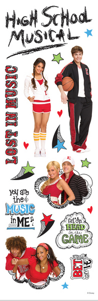 PHSMSBM1 - Disney High School Musical Stickers - 4