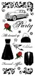 PSCB391 - Formal Affair glittered stickers