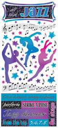 PSCB407 - All that Jazz glittered stickers