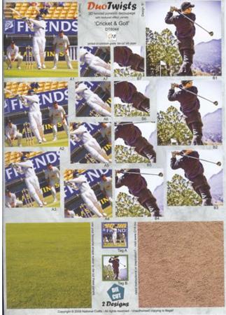 DT8044 - Due Twists - Cricket & Golf