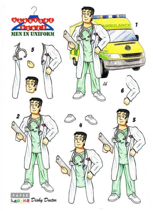 Handsome Hunks - Men in Uniform - Dishy Doctor