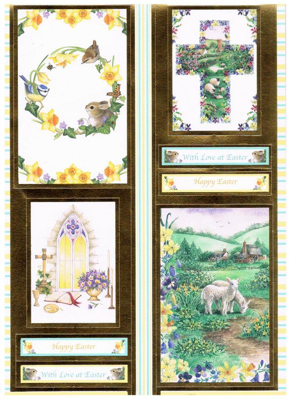 Easter Sheet One Paper Craft Toppers