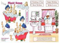 Flippin' Bubble Bath with matching backing sheet