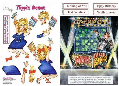 Flippin' Bingo with matching backing sheet.