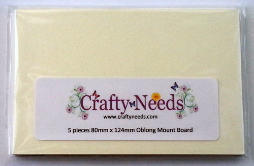Oblong Mount Board. 5 pieces per pack