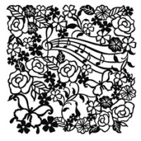 TG400600800 Flowers & Notes Stencil