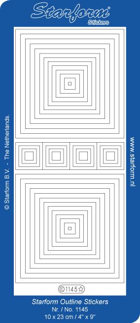 Starform 1145 - Square outline stickers