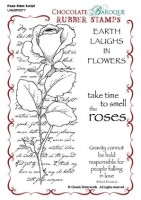 Rose Stem Script Unmounted Rubber stamp sheet - A6 - UA6SP0077