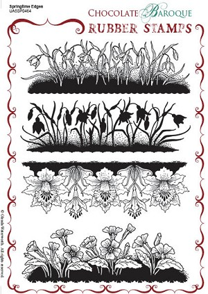 Springtime Edges Unmounted Rubber stamp sheet - A5 - UA5SP0464