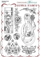 CB05 - Mackintosh Beauty Unmounted Rubber stamp sheet - A5 - UA5SP0460